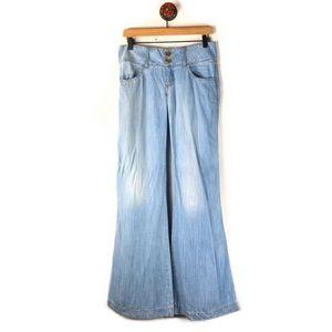 Anthropologie Elevenses 27 Jeans wide leg hippie